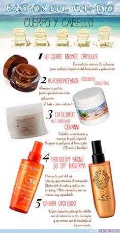 Productos básicos para el verano [ Cuerpo y Cabello ]