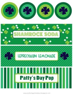 Free St. Patrick's Day printables on Pretty My Party http://www.prettymyparty.com/st-patricks-day-printables/  #freeprintables #printables #stpatricksdayprintables