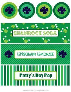 Free St. Patrick's Day printables on Pretty My Party http://www.prettymyparty.com/st-patricks-day-printables/