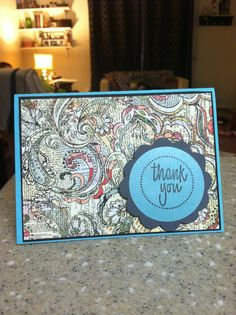 .: DIY thank you card :.