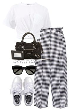 """""""Untitled #3742"""" by theeuropeancloset ❤ liked on Polyvore featuring Sonia Rykiel, Puma, T By Alexander Wang, Balenciaga, GUESS and Yves Saint Laurent"""
