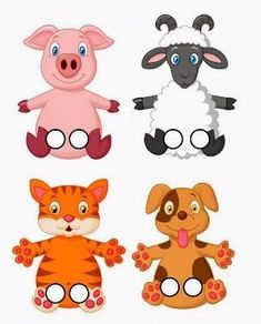 images attach c 10 127 560 Animal Activities, Animal Crafts, Preschool Activities, Paper Puppets, Paper Toys, Art For Kids, Crafts For Kids, Finger Puppet Patterns, Felt Finger Puppets