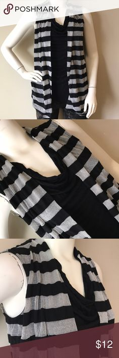 INc black sleeveless top size M This is a INC woman's black sleeveless top size M had attached cardigan to it as seen in pictures INC International Concepts Tops Blouses