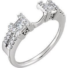 14kt White 1/2 CTW Diamond Ring Enhancer Size 7