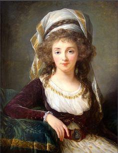 Madame d'Aguesseau de Fresnes  (detail), 1789, by Élisabeth Louise Vigée Le Brun (French, 1755–1842).