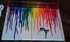 this is the crayon melt I made for my sister as a Christmas present :)