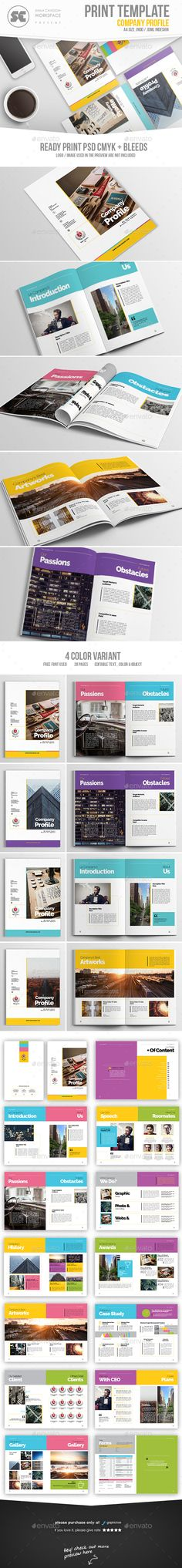 Company Profile Brochure Template InDesign INDD Company Profile - professional business profile template