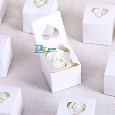 Cupcake Candy Sweet Chocolate Gift Heart Box Ribbon Bridal Wedding Favor Supply
