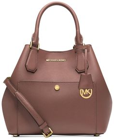 Rhea backpack by MICHAEL Michael Kors. A structured MICHAEL Michael Kors backpack in pebbled leather. Polished logo lettering accents th. Michael Kors Clutch, Outlet Michael Kors, Handbags Michael Kors, Michael Kors Jet Set, Michael Kors Designer, Mk Handbags, Designer Handbags, Latest Handbags, Brown Handbags