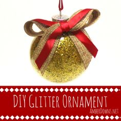 Make a super simple, super cheap, glitter ornament for yourself or for a gift. Come see this ornament made for the 2015 Pinterventures ornament exchange