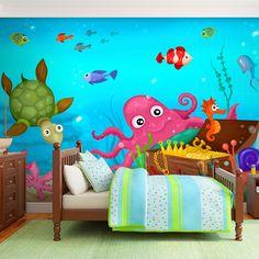 kinder wanduhr fisch tolle wand dekoration f r ein unterwasser kinderzimmer kinderzimmer. Black Bedroom Furniture Sets. Home Design Ideas