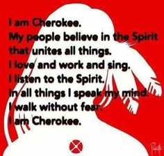 Yes, people need to realize cherokee is not just color, it's a way of life!