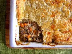 Hearty chicken and mushroom pie South African Recipes, Ethnic Recipes, Yummy Snacks, Yummy Food, Chicken And Mushroom Pie, Best Dishes, Stuffed Mushrooms, Cooking Recipes, Meals