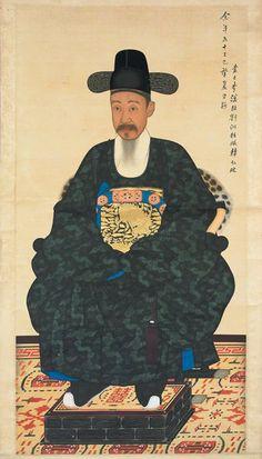 Yi Han Cheol, Portrait of a Heungseon Daewongun, 1869 Korean Art, Asian Art, Chinese Painting, Chinese Art, Korean Peninsula, Korean Traditional, Seong, Art Object, Folk