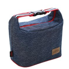 Modern Denim Shoulder Ice Cooler Bags Insulated Pack Drink Food Thermal