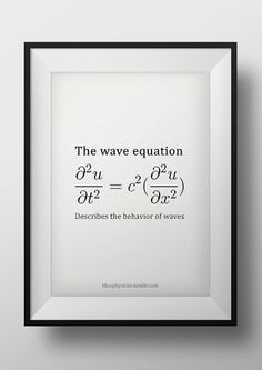 sinkhership: Beauty. | Visualizing Math Theoretical Physics, Physics And Mathematics, Learn Physics, Physics Humor, Engineering Humor, Math Formula Sheet, Wave Equation, Einstein, Physics Formulas