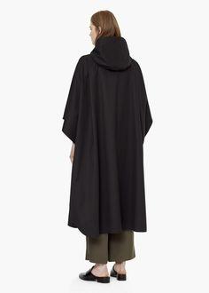 PREMIUM - Cotton-blend hoodie cape