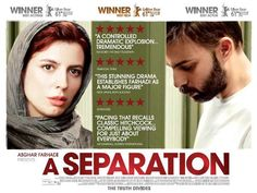 """Cover of """"A Separation"""", an Iranian drama film which won the Oscar prize for Best Foreign Language Film in 2012."""