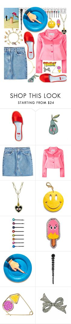 """Untitled #309"" by renaesch ❤ liked on Polyvore featuring Alison Lou, MR by Man Repeller, Anine Bing, Molly Goddard, Edie Parker, Cara, Shourouk, Seletti, Simone Rocha and Loewe"