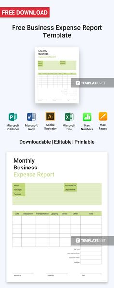 Personal Monthly Expense Report Template Free Company Expense Report  Microsoft Word And Template