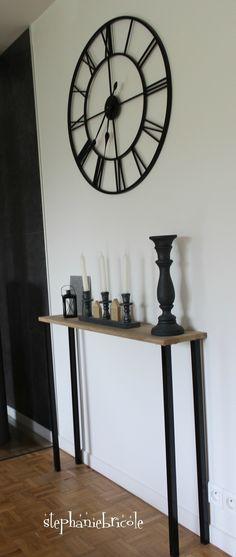 DIY console en bois style industriel - STEPHANIE BRICOLE