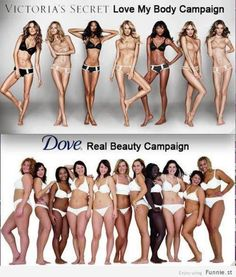 Victoria models are extremely photoshopped & they do tricks to make themselves look skinner