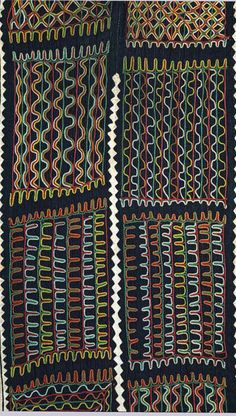 Africa | Detail from a Wodaabe/Bororo man's embroidered tunic from Niger | 20th century | Textiles, woven and embroidered