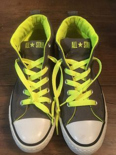 33746743867f Mens Converse Chuck Taylor All Star High Top Shoe Size 8 Gray Yellow   fashion