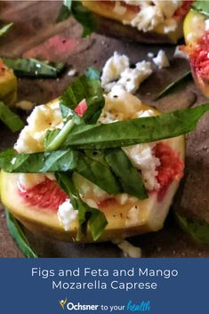 Diedra Dias, Vice President, Health and Wellness Solutions at Ochsner Health, shares her go-to recipes that are super simple. Summer Appetizer Recipes, Best Appetizers, Mozzarella Caprese, Vice President, Serving Dishes, Super Simple, Fig, Main Dishes, Mango