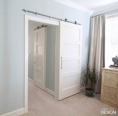 Barn Doors For Bathrooms. A Geometric Transformation Simplified Cabinet Painted Furniture Woodworking Projects
