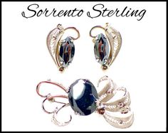 Sterling Silver & Hematite Earrings and by MarlosMarvelousFinds