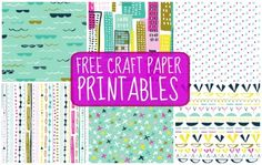 Free Craft Paper Printables