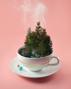 Hot cup of tree Art Print by Filip Hodas | Society6