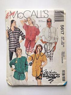 McCalll's Vintage Pattern 5617 Uncut Misses' Blouses  Extra Large