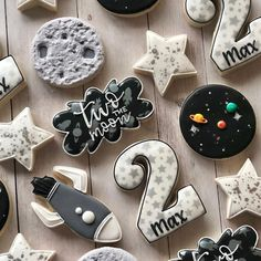 Lindsay twist on birthday cookies for a special little guy! loved this theme two the moon cutters tagged in photo planetcookies unicorn headband craft for kids 2nd Birthday Boys, 2nd Birthday Party Themes, Second Birthday Ideas, Special Birthday, Boy Birthday Parties, Birthday Recipes, Party Mottos, Moon Party, Festa Party