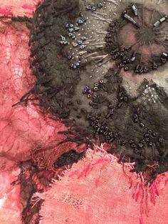 Poppy - detail- Laura Edgar #textile art #hand embroidery #beading