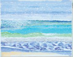 """Bradenton Beach"", 2012,acrylic on canvas. 8 x 10, part of the Florida Gulf Coast paintings."