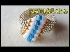 How to make a Spiral Ring - Peyoute Tubular stitching technique - YouTube