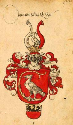 Wappen des kaiserlichen Rates Georg von Logau (f°293r). -- Sammelband mehrerer Wappenbücher, [S.l.] Süddeutschland (Augsburg ?), um 1530 [BSB-Hss Cod.icon. 391].