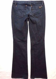 Joes size 32 x 34 Honey Curvy boot cut Low rise Naomi dark wash Womens jeans #JoesJeans #BootCut