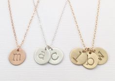 Mother's Day Gift Mom Initial Necklace Mommy Grandma by JewelryVV