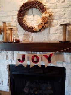 JOY Banner-Buffalo Plaid, bunting, Christmas Banner by SewCuteBabyCakes on Etsy https://www.etsy.com/listing/493042033/joy-banner-buffalo-plaid-bunting