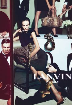 Aymeline Valade & Angus Low by Steven Meisel for Lanvin