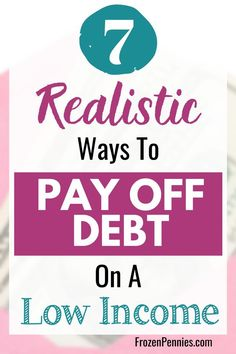 """I have heard people say """"How am I supposed to pay down debt when I can't even pay my bills?"""" To state the obvious, you need more money. Here are five ways to help you pay down your debt or get current on what you owe when you have that low income. Money Saving Challenge, Money Saving Tips, Money Tips, Money Savers, Debt Free Living, Paying Off Student Loans, Money Plan, Financial Peace, Savings Plan"""