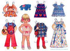 Norwegian Paper Dolls 1970s