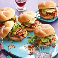 Cola Pulled Pork Sandwiches-great slow cooker idea from Rachael Ray.  Could be a 'take to the lake' idea.  Make day before.
