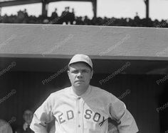 Babe Ruth Baseball Legend 1919 Vintage 8x10 Reprint Of Old Photo