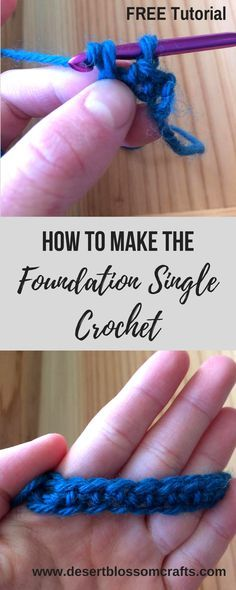 Learn how to make this revolutionary stitch—Foundation Single Crochet! It is my favorite way to start any crochet project. It will transform your approach to crocheting! #crochet #crochettutorial #freecrochetpatterns #freecrochetpattern #crochetblog #crochetblogger #foundationsinglecrochet #learnhowtomakethefoundationsinglecrochet #howtos #crochethowtos #crochetaddict #crochetlove #crochetpattern #crochetpatterns