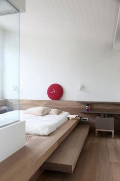 Marvelous Apartment with Artistic Japanese Style Design - Bedroom Set - Japanese Bedroom Decor, Japanese Home Decor, Japan Bedroom, Bedroom Layouts, Bedroom Styles, Bedroom Ideas, Bedroom Designs, Korean Bedroom, Asian Inspired Bedroom