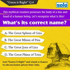 "Just ""Guess it Right"" and stand a chance to win exclusive prizes from Solo.  (T & C * apply)"